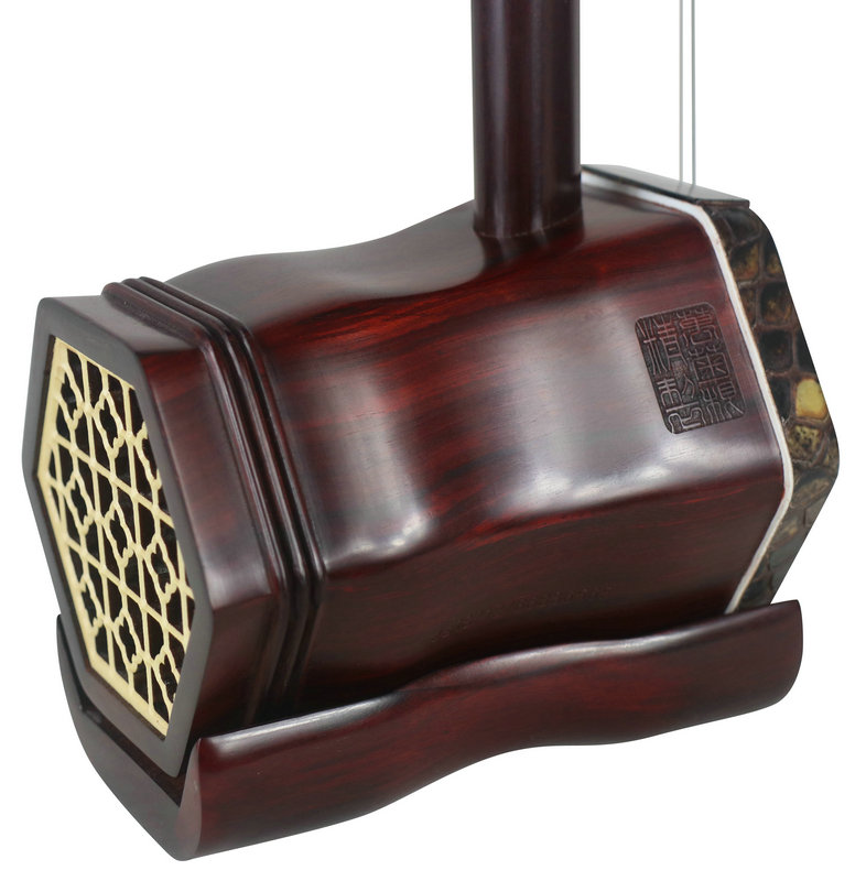 Premium Quality Dragon Carved African Purple Sandalwood Erhu Chinese Fiddle With Accessories