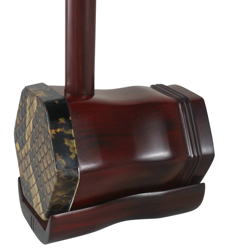Premium Quality Phoenix Carved African  Aged Purple Sandalwood Erhu Chinese Violin With Accessories