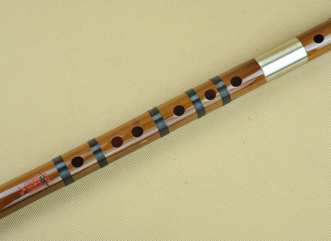 Concert Grade Bitter Bamboo Flute Chinese Dizi Instrument with Accessories 2 Sections