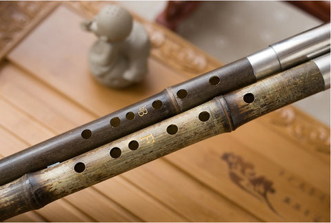 Exquisite Chinese Bamboo Flute Bawu Free Reed Instrument Dubble Tube
