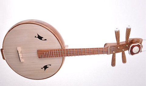 Concert Grade Yellow Sandalwood Zhongruan Instrument Chinese Moon Guitar