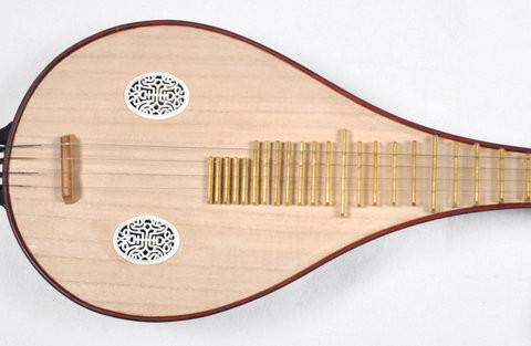 Professional Sandalwood Liuqin Instrument Chinese Mandolin With Case