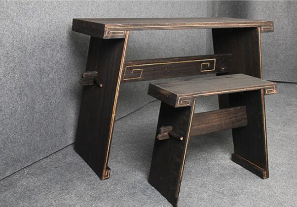 Detachable Paulownia Guqin Table & Stool with Sound Box