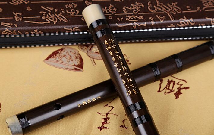 Concert Grade Chinese Laos Acid Wood Flute Dizi Instrument with Accessories