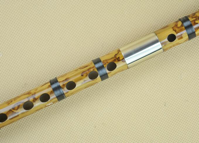 Professional Chinese Bitter Bamboo Flute Dizi Instrument with Accessories 2 Sections