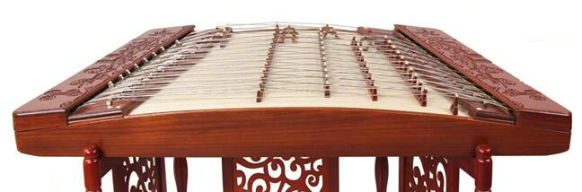 Concert Grade Carved Rosy Sandalwood Yangqin Instrument Chinese Hammered Dulcimer 402 Type with Accessories