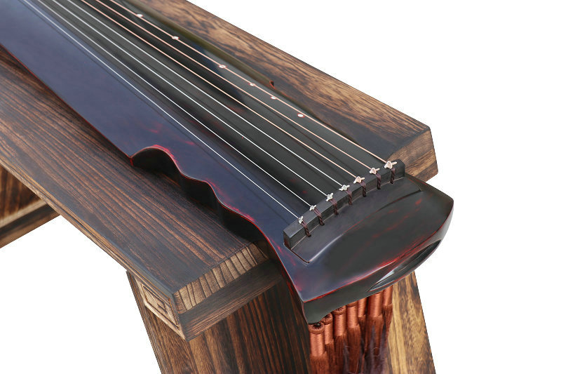 Professional Aged Fir Wood Guqin Instrument Chinese 7 String Zither Xuan He Style