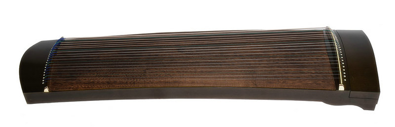 Exquisite Travel Size Black Sandalwood Guzheng Instrument Chinese Zither Harp