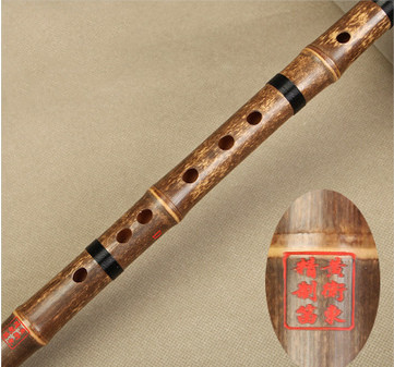 Professional Chinese Purple Bamboo Flute Dizi Instrument with Accessories