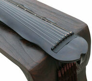 Buy Concert Grade Aged Fir Wood Guqin Chinese 7 Stringed Zither Banana Leaf Style