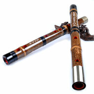 Kaufen Acheter Achat Kopen Buy Concert Grade Chinese Purple Bamboo Flute Dizi Instrument with Accessories