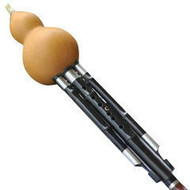 Buy Concert Level Chinese Free Reed Gourd & Black Sandalwood Flute Hulusi Instrument