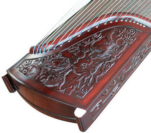 Kaufen Acheter Achat Kopen Buy Premium Quality Purple Sandalwood Dragon Guzheng Instrument Chinese Zither