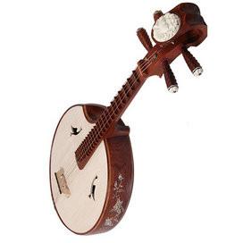Buy Premium Quality Aged Sandalwood Zhongruan Instrument Chinese Moon Guitar Ruan