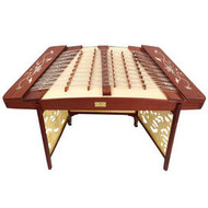 Buy Concert Grade Sandalwood Yangqin Instrument Chinese Hammered Dulcimer 405 Type with Accessories