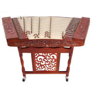 Buy Concert Grade Carved Sandalwood Yangqin Instrument Chinese Hammered Dulcimer 402 Type with Accessories