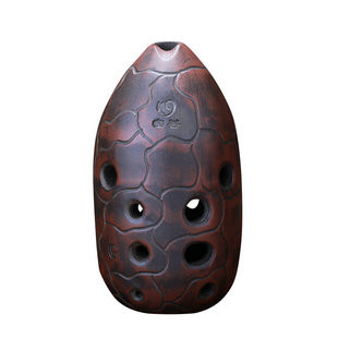 Buy Quality Chinese Pottery Clay Flute Ancient Xun Instrument Ceramic Ocarina 10 Holes