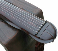 Buy Professional Level Aged Fir Wood Guqin Chinese 7 Stringed Zither Banana Leaf Style