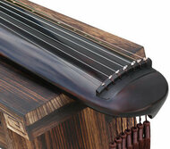 Buy Professional Aged Fir Wood Guqin Instrument Chinese 7 String Zither Hun Dun Style