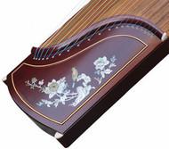 Kaufen Acheter Achat Kopen Buy Professional Peony Carved Rosy Sandalwood Guzheng Instrument Chinese Zither