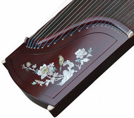 Buy Professional Peony Carved Purple Sandalwood Guzheng Instrument Chinese Harp
