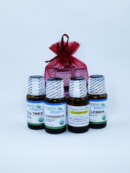 Bundle of 4 : Lemon, Lemongrass, Tea Tree and Cedarwood