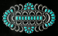 ZUNI TURQUOISE CLUSTER PIN S Charley