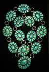ZUNI TURQUOISE CLUSTER CONCHO BELT ALICE QUAM STYLE SOLD