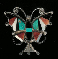 Zuni Butterfly Multi-Inlay Pin