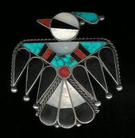 Zuni Thunderbird Multi-Inlay Pin
