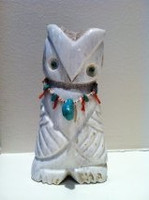 Zuni Owl Fetish Robert Weahkee ZOFRW2 SOLD