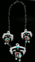 Zuni Inlay Eagle Dancer Collectable Choker Necklace Charlie Poncho