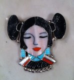 Zuni Maiden Pin Pendant Virgil & Shirley Benn ZMPVSB8 SOLD