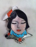 Zuni Maiden Pin Pendants Virgil & Shirley Benn