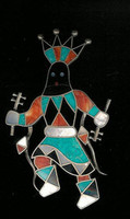 Zuni Multi-Inlay Apache Dancer Pin