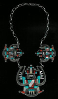 Zuni Inlay Knifewing Necklace M.L.