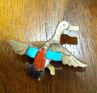 Zuni Duck Multi Color Pin Pendant S Lonjose