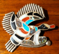 Zuni Duck Multi Color Pawn Pin