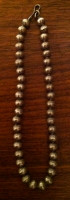 Sterling Silver Navajo Stamped Beads 1960's Choker Length Sold
