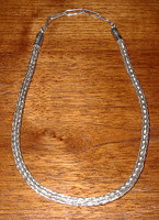 Sterling Silver Navajo Braided Rope Choker_2 Mary Teller SOLD