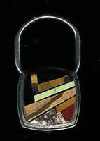 Sterling Silver Multistone Key Ring SSKR5 SOLD