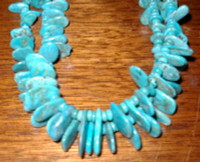 SANTO DOMINGO BLUE GEM TURQUOISE HEISHI NECKLACE SOLD