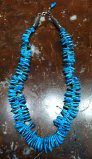 SANTO DOMINGO 1 STRAND CASTLE DOME TURQUOISE GRADUATED HEISHI NECKLACE