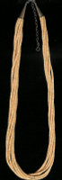 SANTO DOMINGO MELON SHELL 6 STRAND HEISHI NECKLACE SOLD