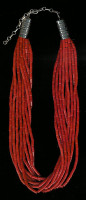 SANTO DOMINGO CORAL 10 STRAND HEISHI NECKLACE SOLD