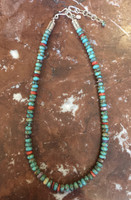 SANTO DOMINGO 1 STRAND TURQUOISE BEADED HEISHI NECKLACE_3 Ken Aguilar