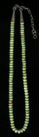 SANTO DOMINGO 1 STRAND GASPEITE BEADED HEISHI NECKLACE_2 Ken Aguilar SOLD