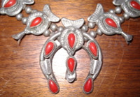 SQUASH BLOSSOM NECKLACE CORAL_26