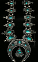 Squash Blossom Necklace_Navajo Bisbee Turquoise Jimmy Herald