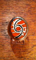 RINGS ZUNI CORAL INLAY STERLING HUMMINGBIRD DESIGN Dickie Quandelacy SOLD